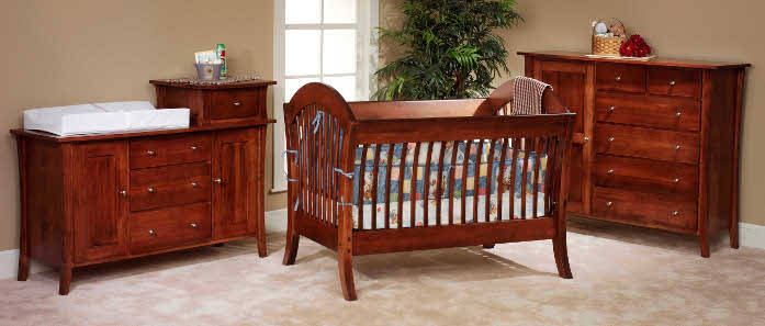 Cribs Made In Usa Solid Wood Baby Furniture Baby Eco