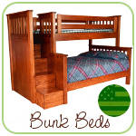Solid Wood Bunk Beds Made in USA