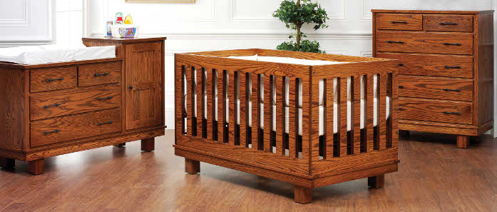Usa Made Eco Friendly Nursery Furniture Amish Convertible Baby
