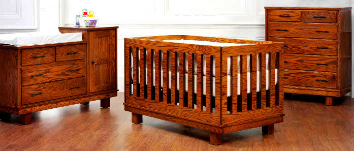 USA Made Eco Friendly Nursery Furniture Amish Baby Furniture