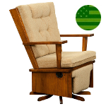 Amish Cameron Swivel Glider with Flip-out Footrest