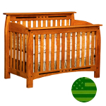 Amish Arcadia 4 in 1 Convertible Baby Crib
