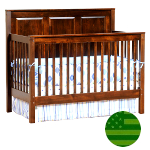 Amish Quincy Panel 4 in 1 Convertible Baby Crib