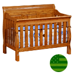 Amish 4 in 1 Convertible Baby Crib - Sleigh Panel