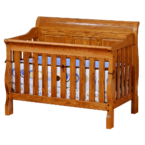 Sleigh Panel 4 In 1 Convertible Baby Crib Made In Usa