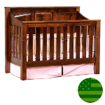 Amish 4 in 1 Convertible Baby Crib - Mission Panel