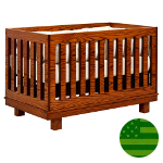 Amish 4 in 1 Convertible Baby Crib - Soho