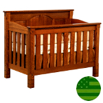 Amish 4 in 1 Convertible Baby Crib - Trinity