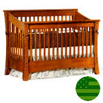 Amish 4 in 1 Convertible Baby Crib - Cambria Slats