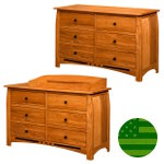 Amish Arcadia 6 Drawer Dresser / Baby Changer