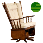 Amish Arcadia Swivel Glider