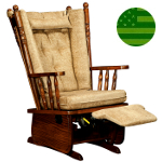 Amish Arcadia Glider with Flip-out Footrest