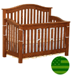 Amish 4 in 1 Convertible Baby Crib - Aria