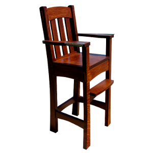 Made.in.America.Amish.Arts.and.Crafts.Baby.  sc 1 st  Baby Eco Trends & Amish Wooden High Chair | Arts u0026 Crafts High Chair | Baby Eco Trends