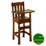 Amish Arts & Crafts Baby High Chair