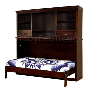 Made.in.America.Amish.Avalon.Bookcase.Murphy.Bed.Open.BETWM300.jpg