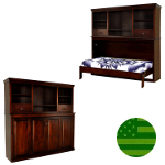 Amish Avalon Bookcase Murphy Bed