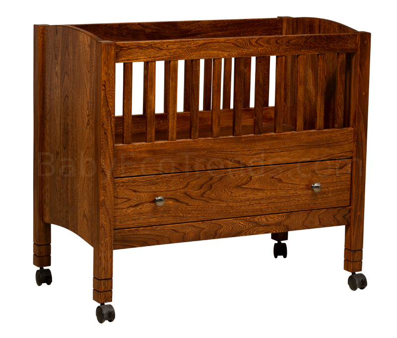 American Made Baby Binet With Drawer Solid Wood