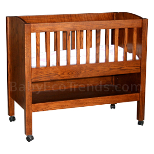 Amish Baby Bassinet with Shelf