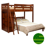 Amish Benning Twin & Full Bunk Bed with Bookcases