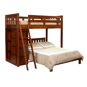 Amish Bunk Beds Made In Usa Solid Wood Stairway Bunk