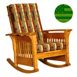 Amish Bow Arm Rocker