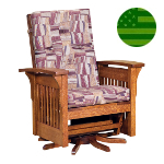 Amish Bow Arm Swivel Glider