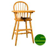 Amish Bow Back Baby High Chair with Turned Legs