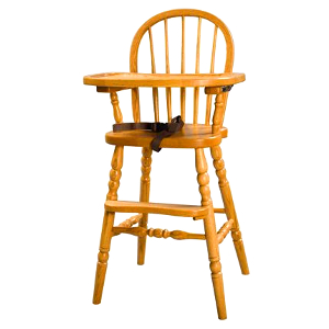 z 6-26-14 Amish Bow Back Baby High Chair with Turned Legs - NO LONGER AVAILABLE