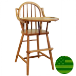 Amish Bow Back Baby High Chair with Straight Legs