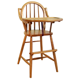 Amish Bow Back Baby High Chair