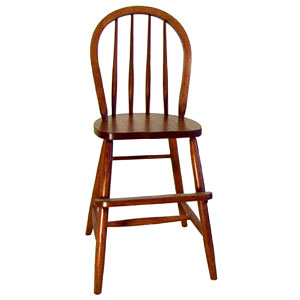 Amish Bow Back Youth Chair with Straight Legs
