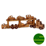 Amish Car Carrier Truck Set