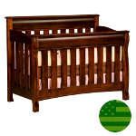 Amish 4 in 1 Convertible Baby Crib - Caspian