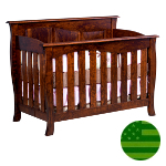 Amish 4 in 1 Convertible Baby Crib - Catalina Slats