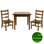 Amish Child's Table & Ladder Back Chairs Set