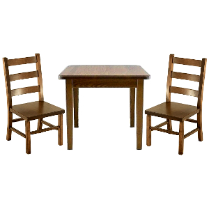 z 6-26-14 Amish Child's Table & Ladder Back Chairs Set - NO LONGER AVAILABLE