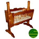 Amish Spindle Baby Cradle