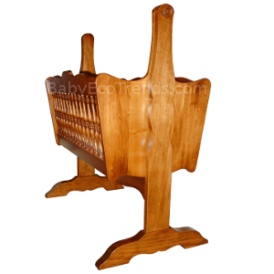 Made.in.America.Amish.Classic.Spindle.Baby.Cradle.Solid.Wood.side.BETWM300.JPG