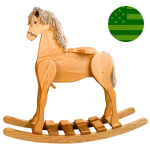 Amish Child's Deluxe Rocking Horse - Large