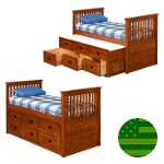 Amish Devin Storage Trundle Bed