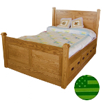 Amish Eaton Storage Bed