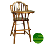 Amish High Chair - Fiddle Back