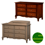 Amish French Country 6 Drawer Dresser/Baby Changer