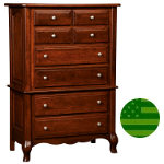 Amish French Country 8 Drawer Highboy