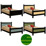 Amish Georgetown Beadboard Bed