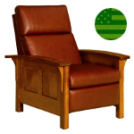 Amish Hacienda Panel Recliner