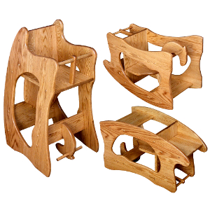 26-14 Amish 3 in 1 Baby High Chair - NO LONGER AVAILABLE