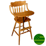 Amish Wheat Back Baby High Chair