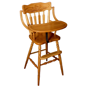 z 6-26-14 Amish Wheat Back Baby High Chair - NO LONGER AVAILABLE